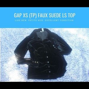 Gap Faux Suede Black Top